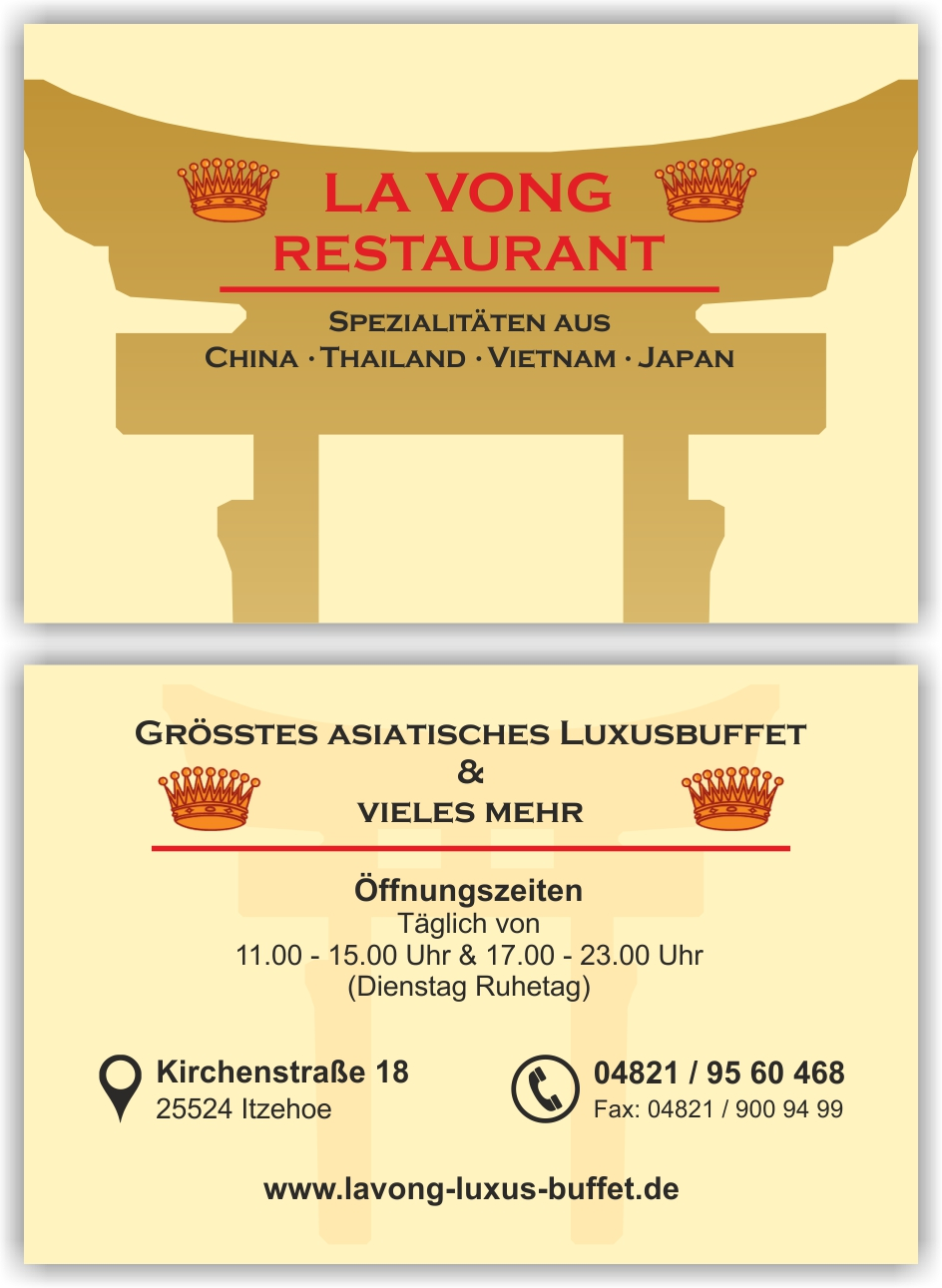 Bonus Visitenkarte Hong Dang Design